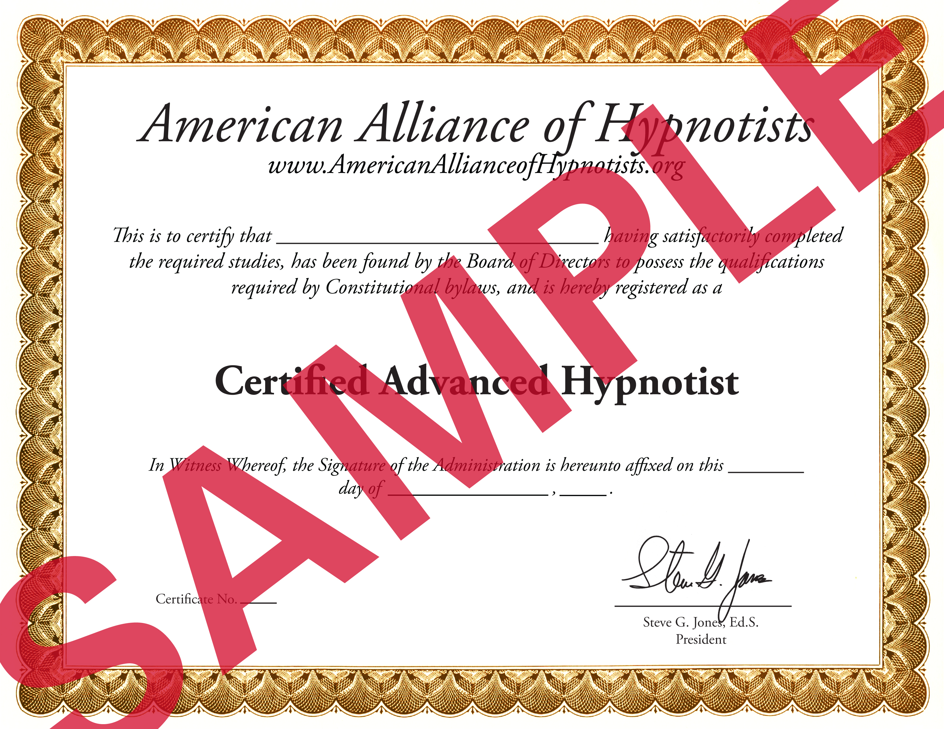 Advanced Hypnotherapy Certification